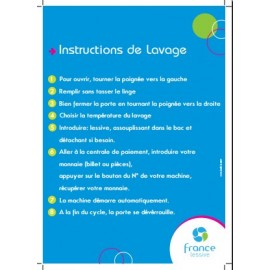Instructions de lavage pour laverie automatique