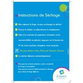 Instructions de séchage pour laverie automatique